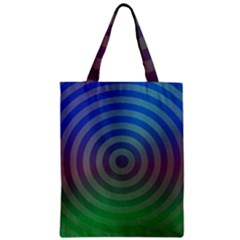Blue Green Abstract Background Zipper Classic Tote Bag