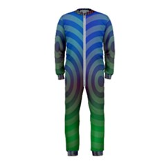 Blue Green Abstract Background Onepiece Jumpsuit (kids)