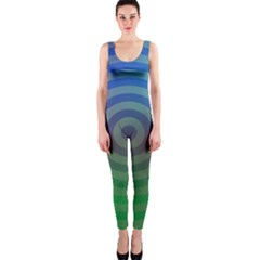 Blue Green Abstract Background Onepiece Catsuit