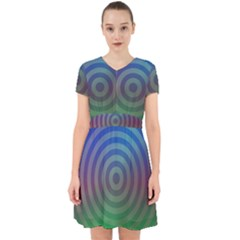 Blue Green Abstract Background Adorable In Chiffon Dress