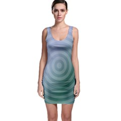 Teal Background Concentric Bodycon Dress