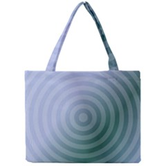 Teal Background Concentric Mini Tote Bag
