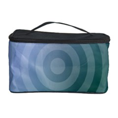 Teal Background Concentric Cosmetic Storage Case