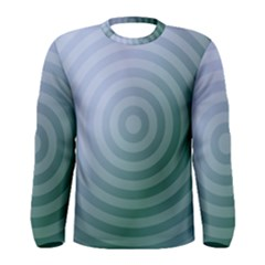 Teal Background Concentric Men s Long Sleeve Tee