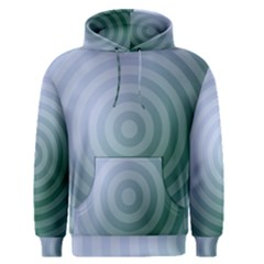 Teal Background Concentric Men s Pullover Hoodie