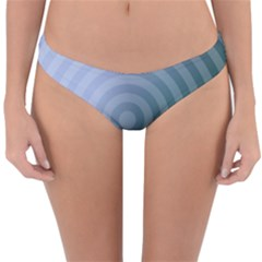 Teal Background Concentric Reversible Hipster Bikini Bottoms