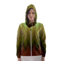 Zig Zag Chevron Classic Pattern Hooded Wind Breaker (women)