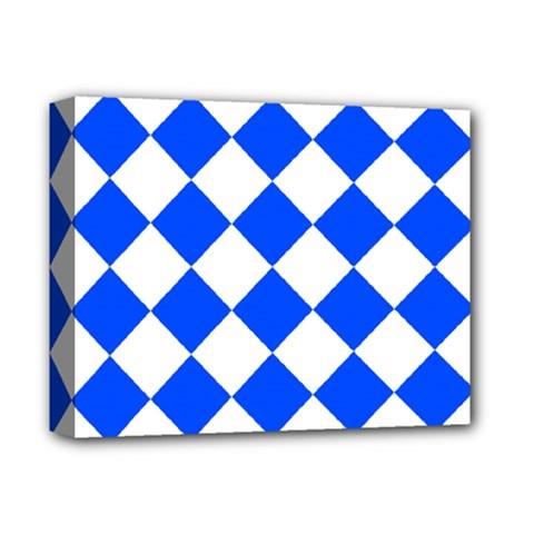 Blue White Diamonds Seamless Deluxe Canvas 14  X 11