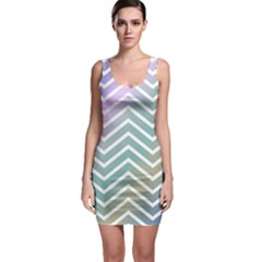 Zigzag Line Pattern Zig Zag Bodycon Dress