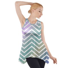 Zigzag Line Pattern Zig Zag Side Drop Tank Tunic