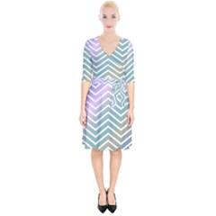 Zigzag Line Pattern Zig Zag Wrap Up Cocktail Dress