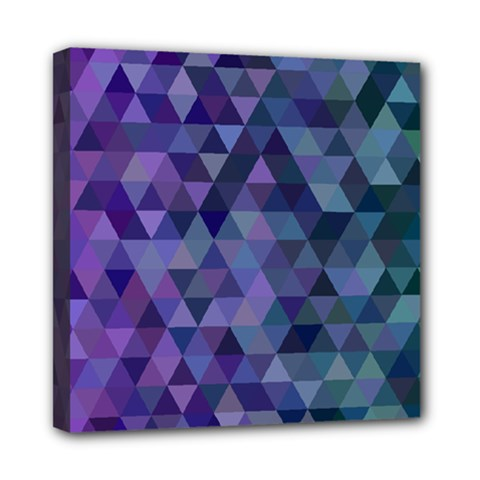 Triangle Tile Mosaic Pattern Mini Canvas 8  X 8