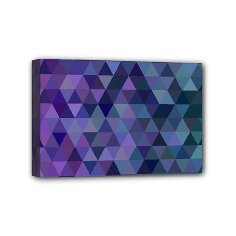 Triangle Tile Mosaic Pattern Mini Canvas 6  X 4