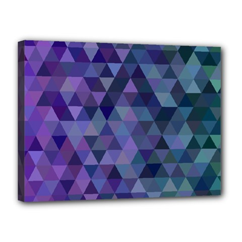 Triangle Tile Mosaic Pattern Canvas 16  X 12