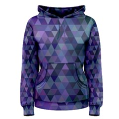 Triangle Tile Mosaic Pattern Women s Pullover Hoodie