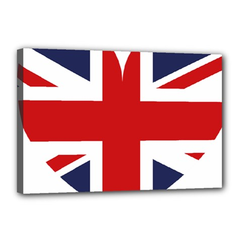 Uk Flag United Kingdom Canvas 18  X 12