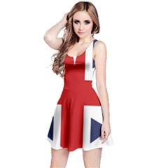 Uk Flag United Kingdom Reversible Sleeveless Dress