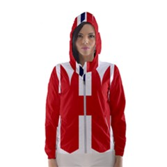 Uk Flag United Kingdom Hooded Wind Breaker (women)