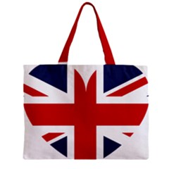 Uk Flag United Kingdom Zipper Mini Tote Bag