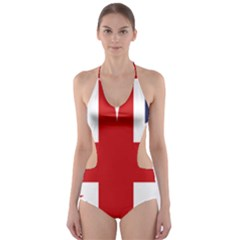 Uk Flag United Kingdom Cut Out One Piece Swimsuit