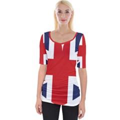 Uk Flag United Kingdom Wide Neckline Tee