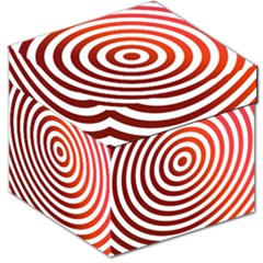 Concentric Red Rings Background Storage Stool 12