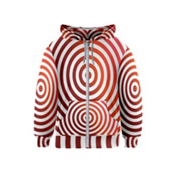 Concentric Red Rings Background Kids  Zipper Hoodie