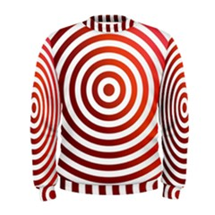 Concentric Red Rings Background Men s Sweatshirt