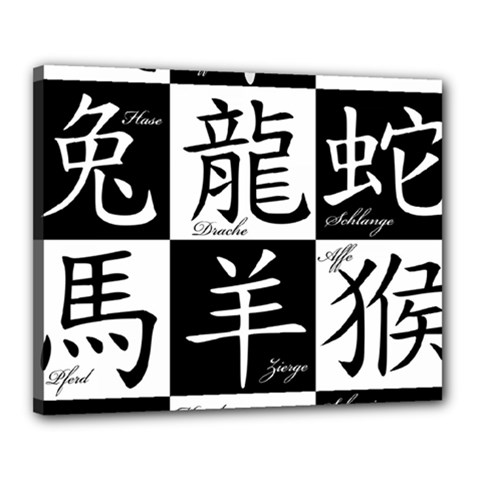 Chinese Signs Of The Zodiac Canvas 20  X 16