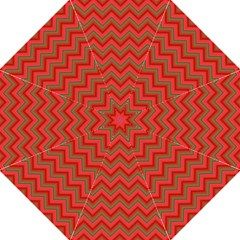 Background Retro Red Zigzag Folding Umbrellas