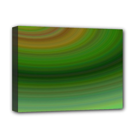 Green Background Elliptical Deluxe Canvas 16  X 12