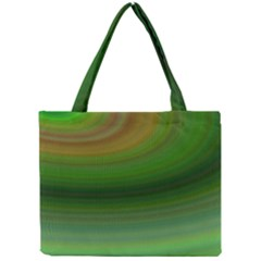 Green Background Elliptical Mini Tote Bag