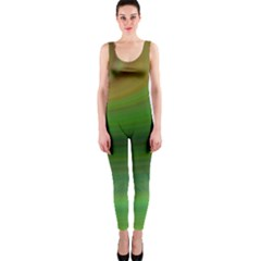Green Background Elliptical Onepiece Catsuit