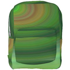 Green Background Elliptical Full Print Backpack