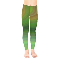 Green Background Elliptical Kids  Legging