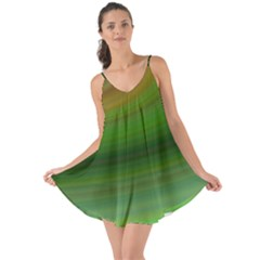 Green Background Elliptical Love The Sun Cover Up