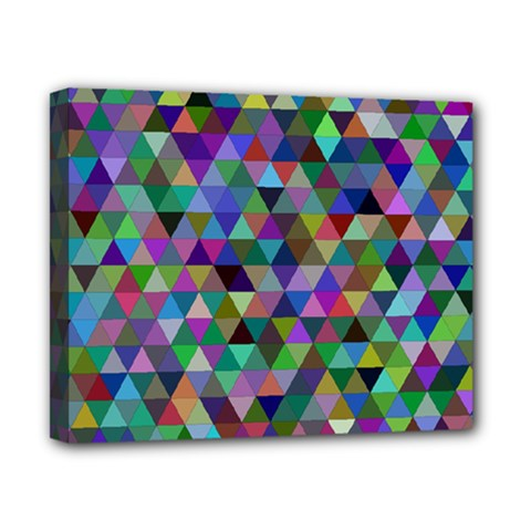 Triangle Tile Mosaic Pattern Canvas 10  X 8
