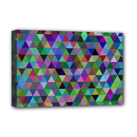 Triangle Tile Mosaic Pattern Deluxe Canvas 18  X 12