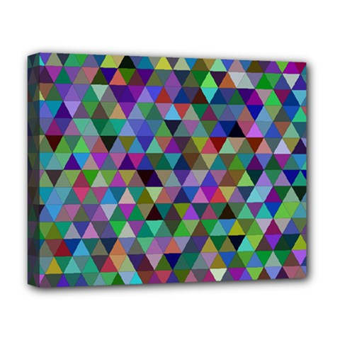 Triangle Tile Mosaic Pattern Deluxe Canvas 20  X 16
