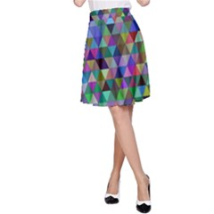 Triangle Tile Mosaic Pattern A Line Skirt