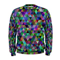Triangle Tile Mosaic Pattern Men s Sweatshirt