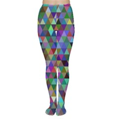 Triangle Tile Mosaic Pattern Women s Tights