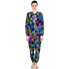 Triangle Tile Mosaic Pattern Onepiece Jumpsuit (ladies)