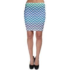 Blue Zig Zag Chevron Classic Pattern Bodycon Skirt