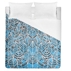 Blue Feathers  Duvet Cover (queen Size)