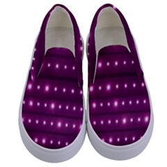 Galaxy Stripes Pattern Kids  Canvas Slip Ons