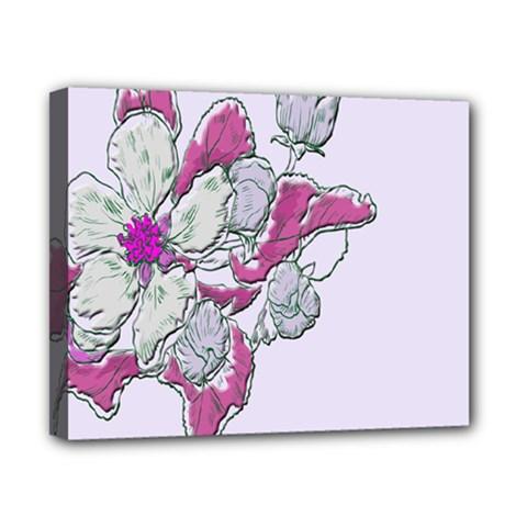 Bouquet Flowers Plant Purple Canvas 10  X 8