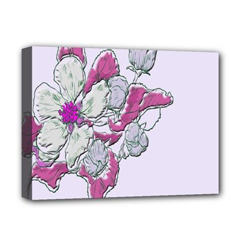 Bouquet Flowers Plant Purple Deluxe Canvas 16  X 12