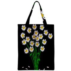 Bouquet Geese Flower Plant Blossom Zipper Classic Tote Bag