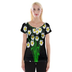 Bouquet Geese Flower Plant Blossom Cap Sleeve Tops